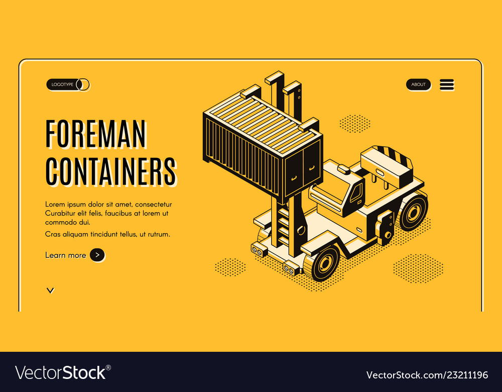 Shipping container delivery service webpage