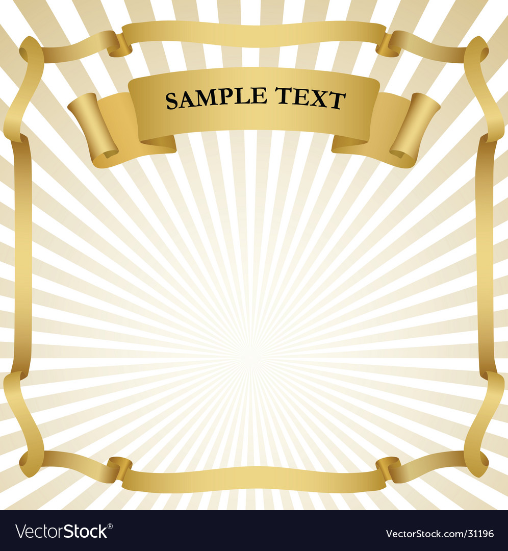 Signboard with ribbon vector image