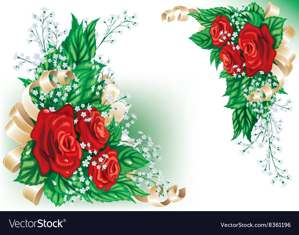 Whimsical Red Rose Design vector image