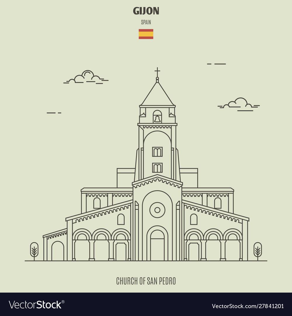 Church san pedro in gijon spain