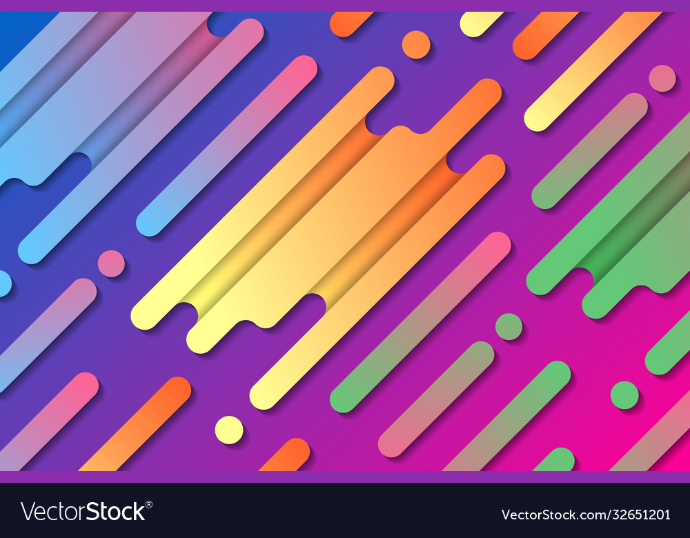 Colorful abstract composition with diagonal lines
