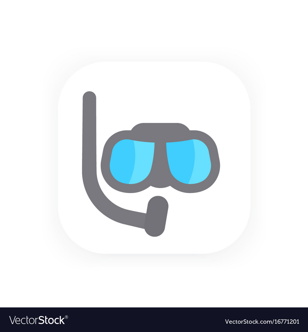 Diving mask icon pictogram in flat style