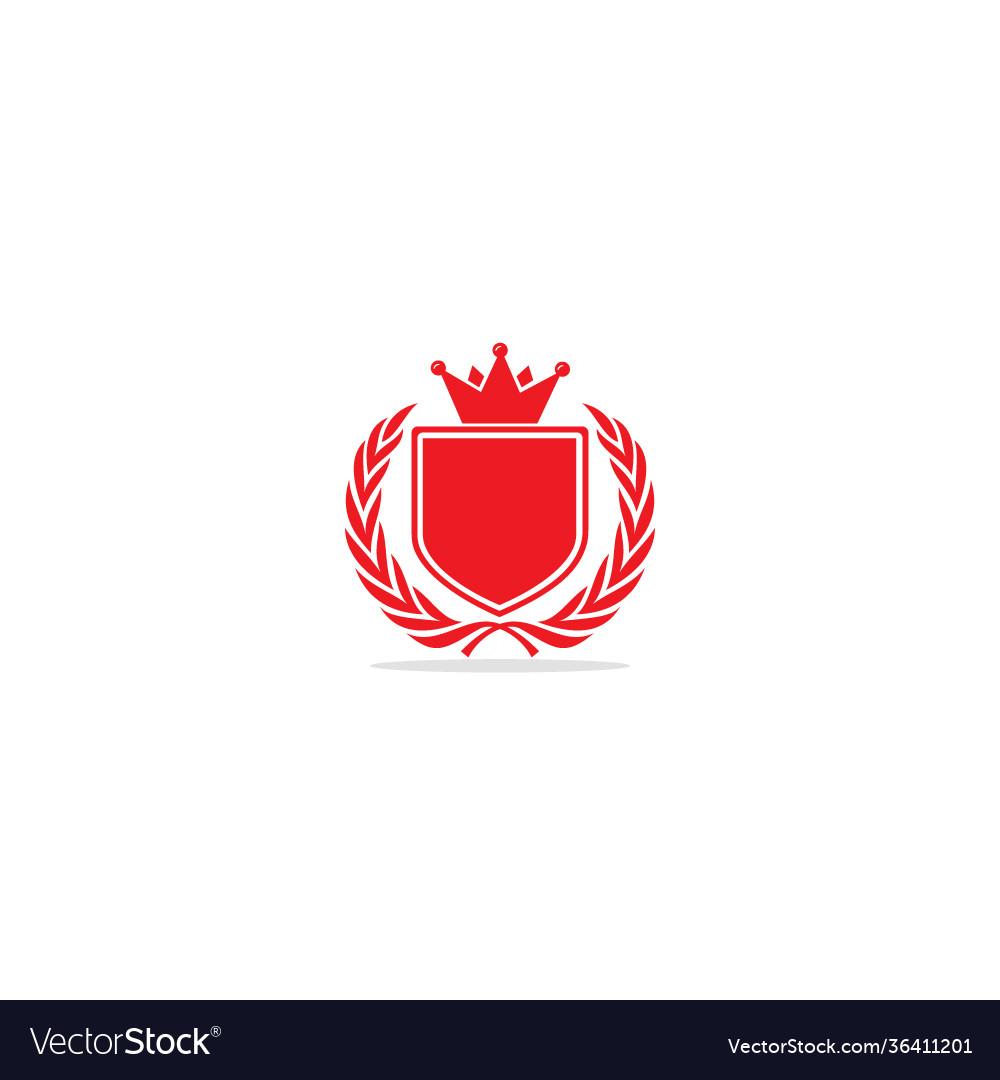 Emblem shield crown logo