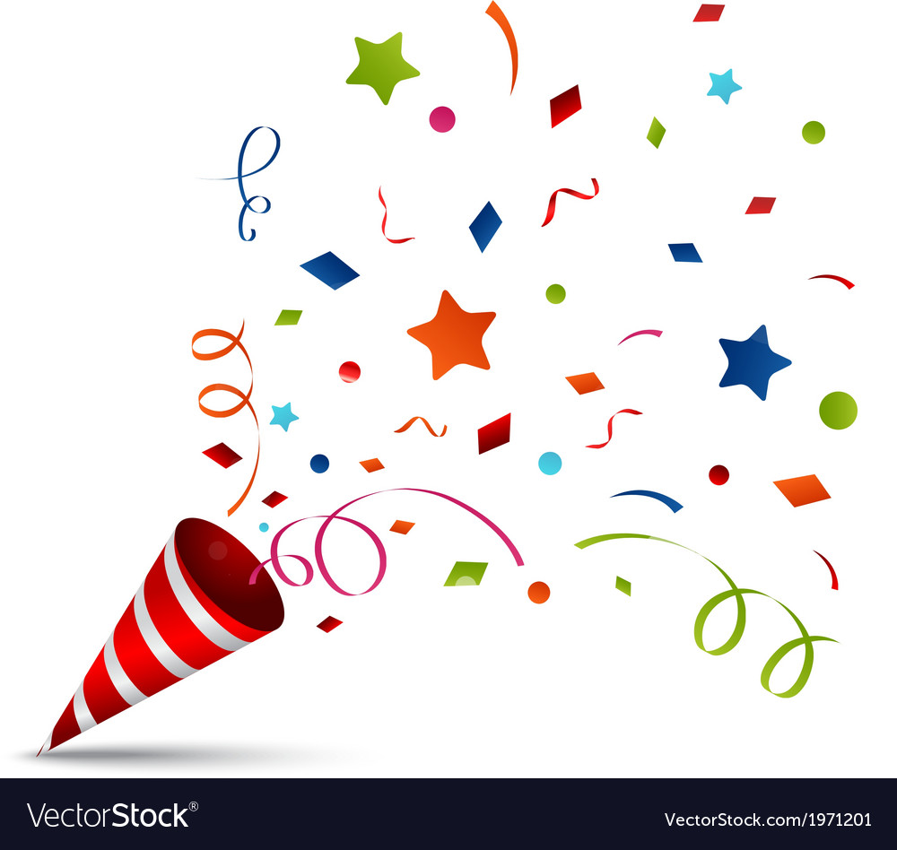 Exploding party popper vector image