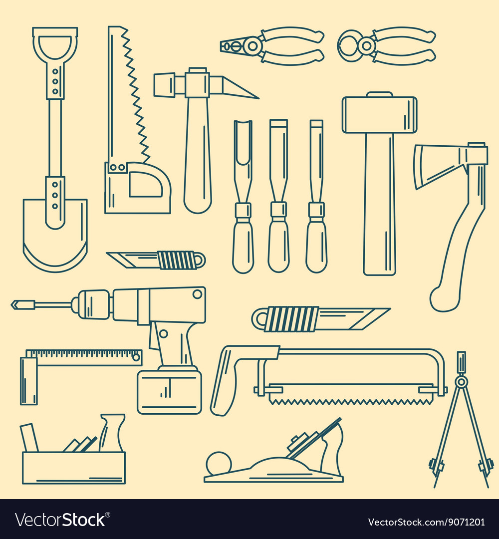 Set of hand tools for productive work