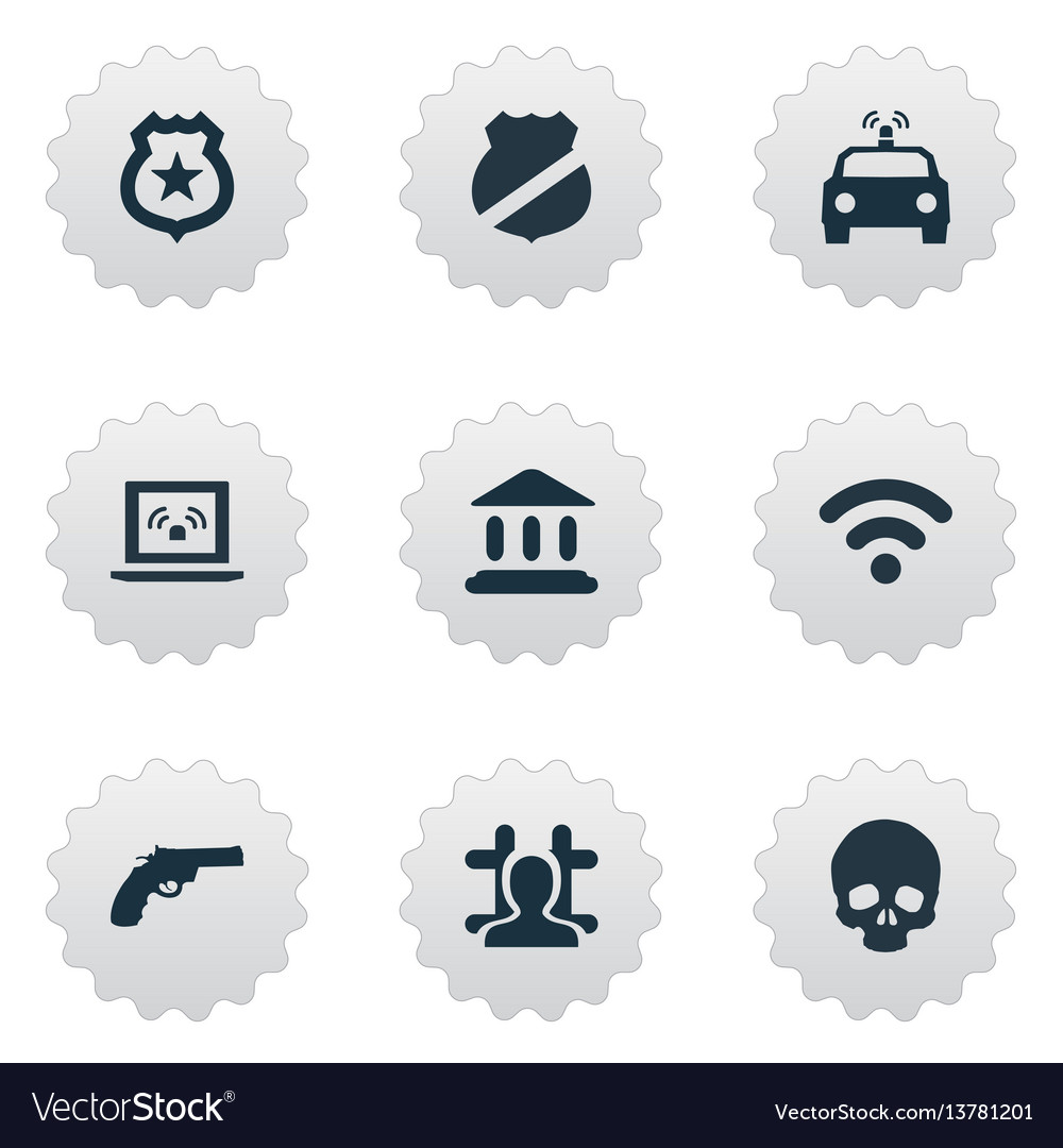 Set of simple offense icons