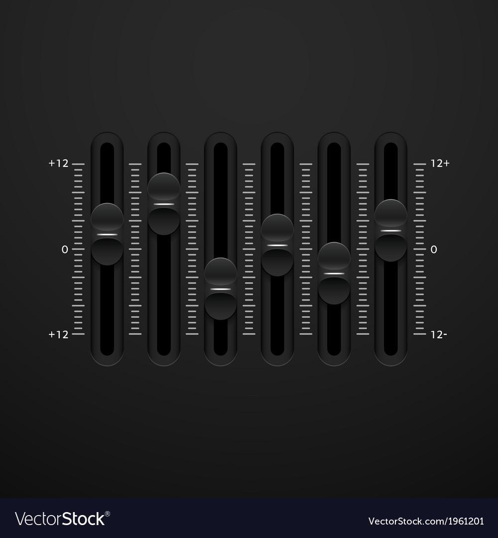 Sound mixer console panel
