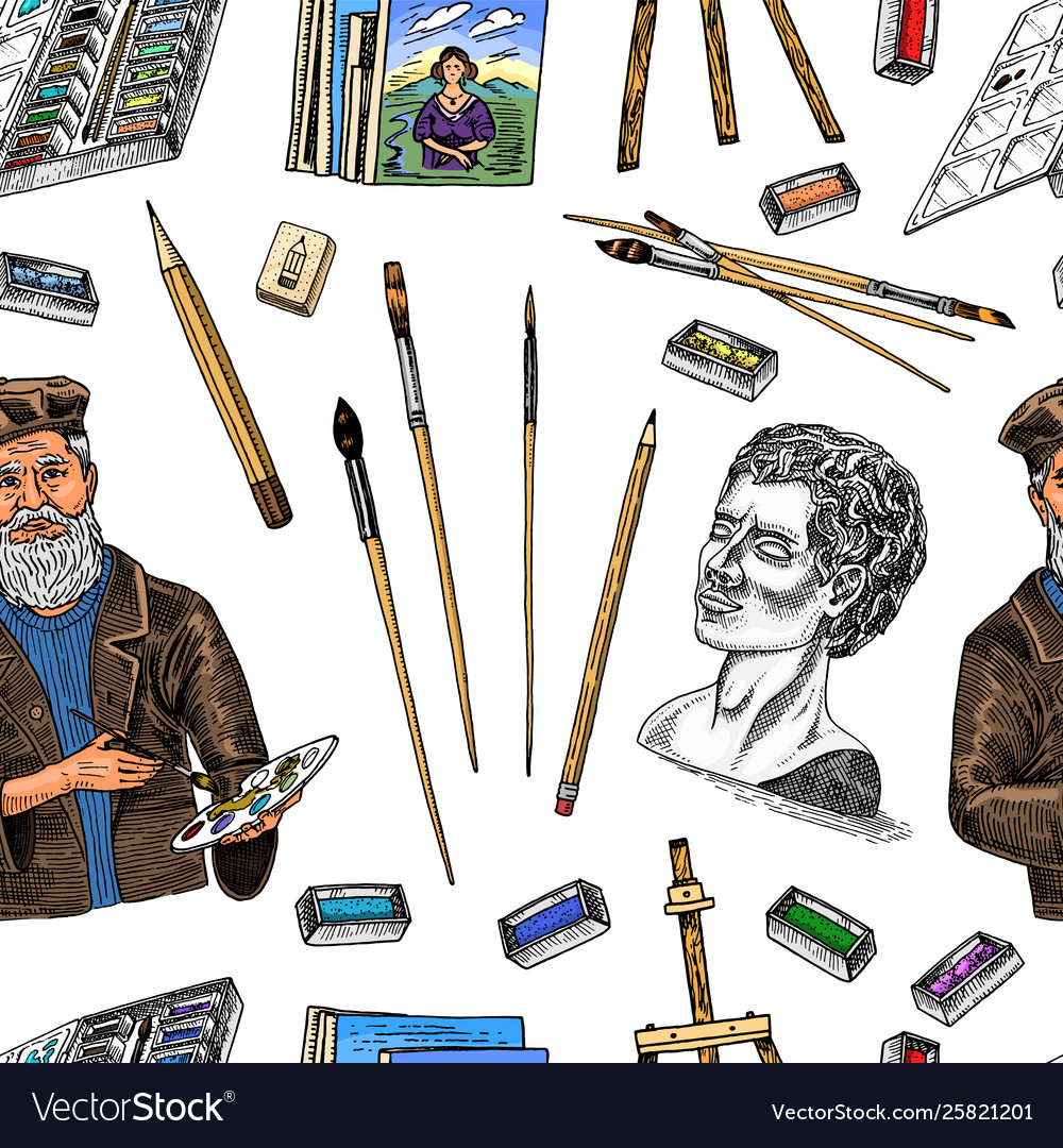 Tools for artist seamless pattern easel