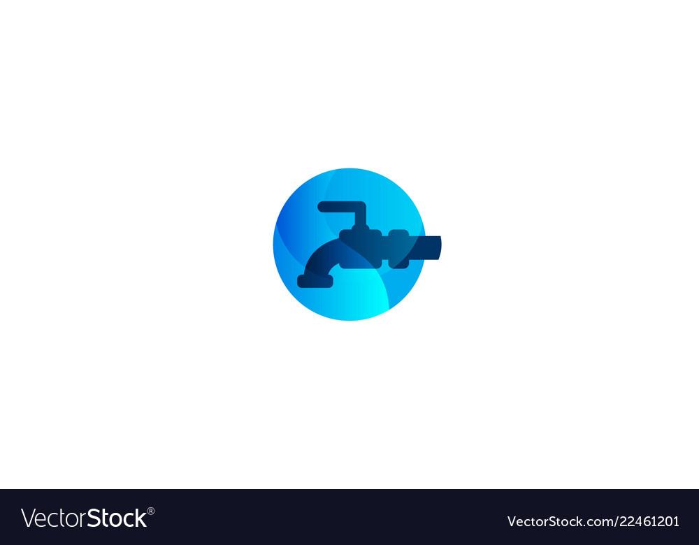 water pipe faucet plumbing logo logo inspiration vector image rh vectorstock com