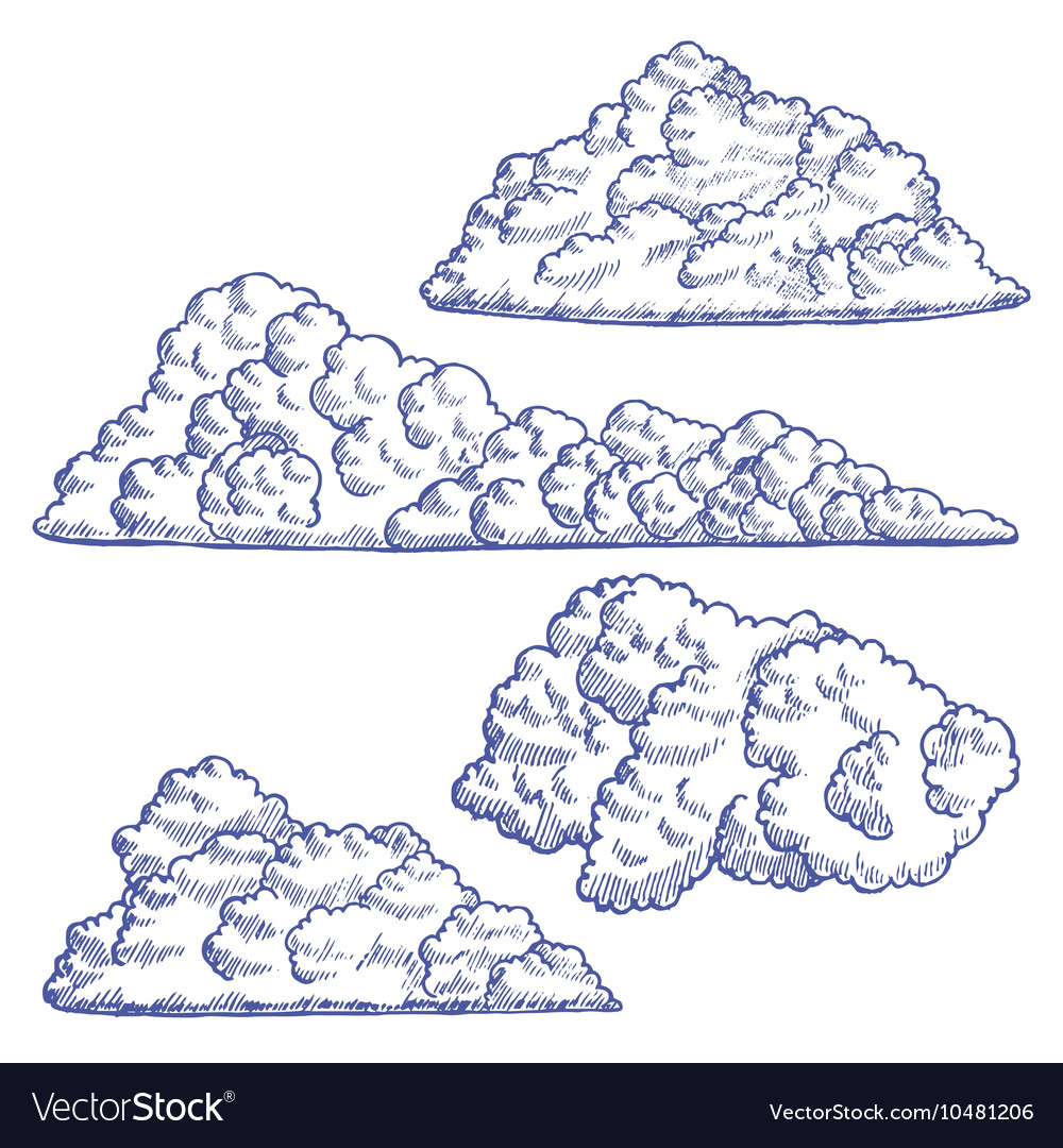 Clouds Hand Draw Sketch