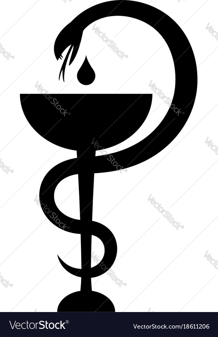 Cup Of Asclepius Royalty Free Vector Image Vectorstock