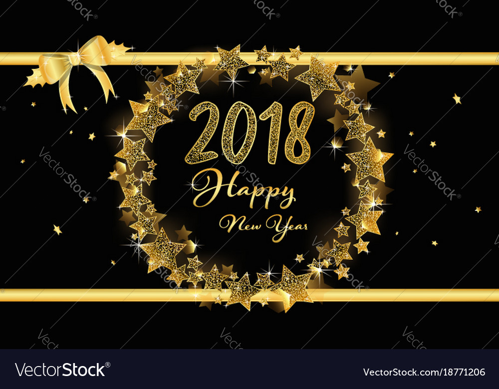 elegant banner of happy new year 2018 vector image