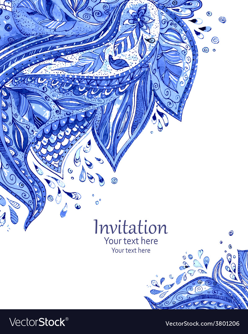 Invitation Card With Fashion Beautiful Pattern For