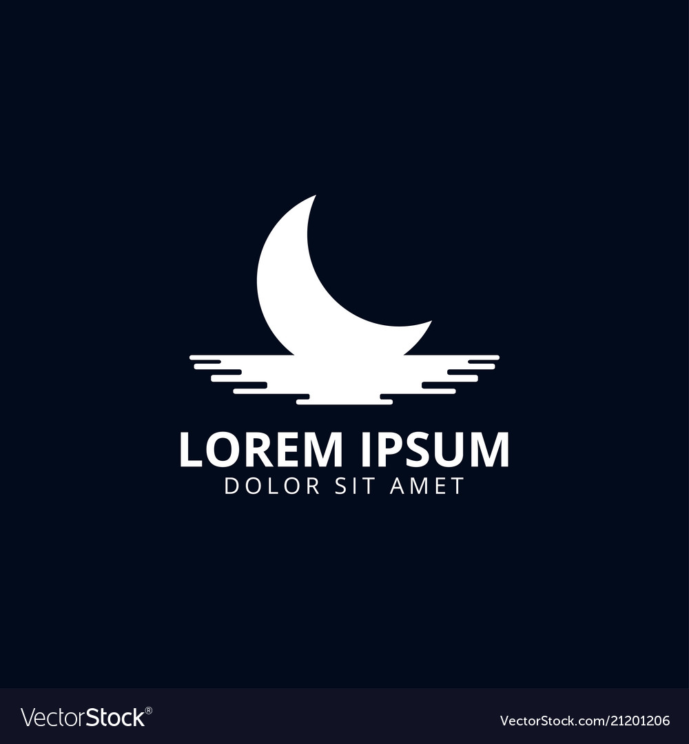 Moon Logo Design Template Royalty Free Vector Image Get inspired by these amazing moon logos created by professional designers. vectorstock