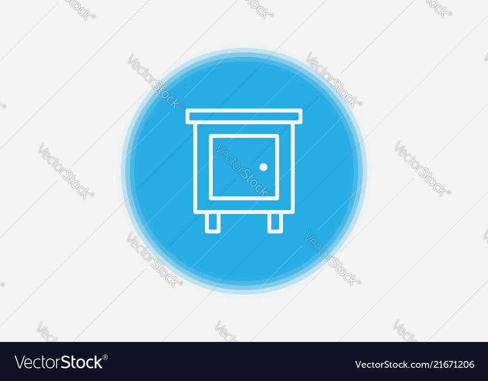 Nightstand icon sign symbol