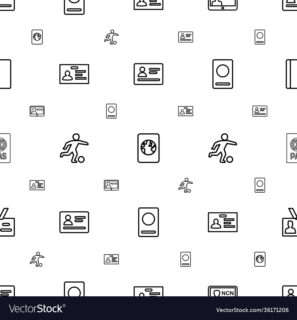 Pass icons pattern seamless white background