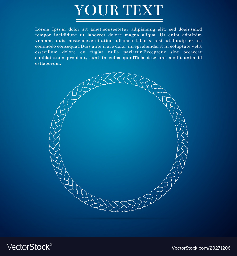 Rope frame icon frames from nautical rope vector image