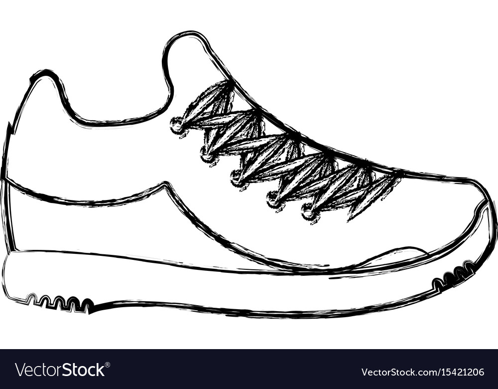 Tennis shoe isolated icon