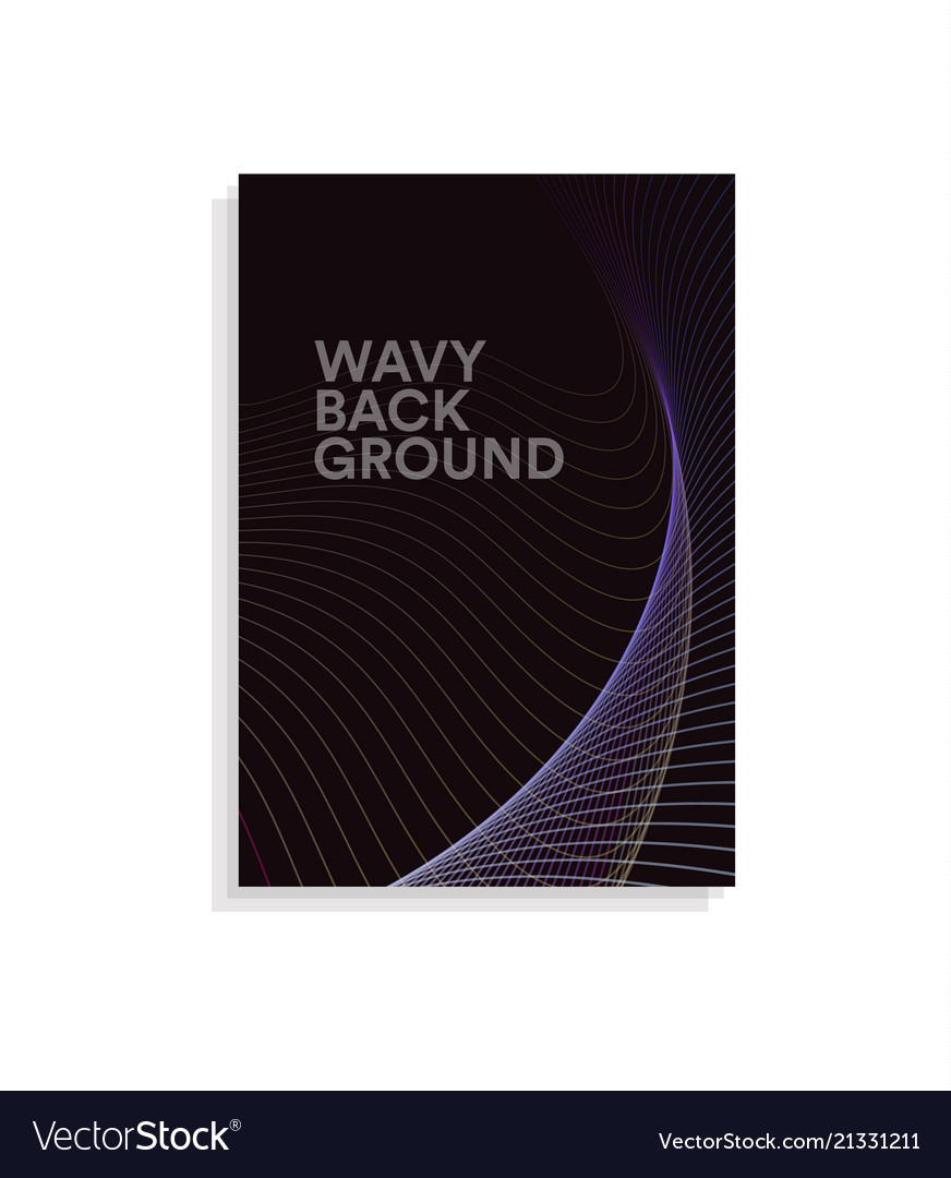 Abstract brochure cover design template with wavy