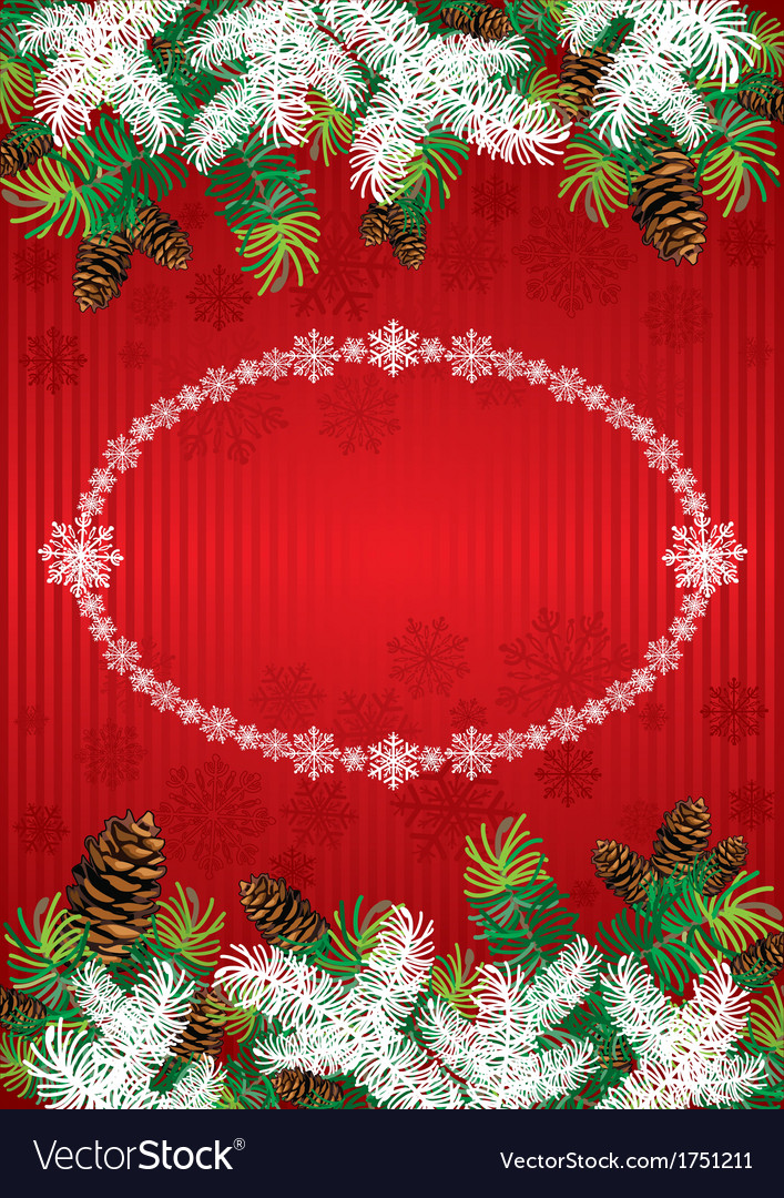 Chrismas background vector image