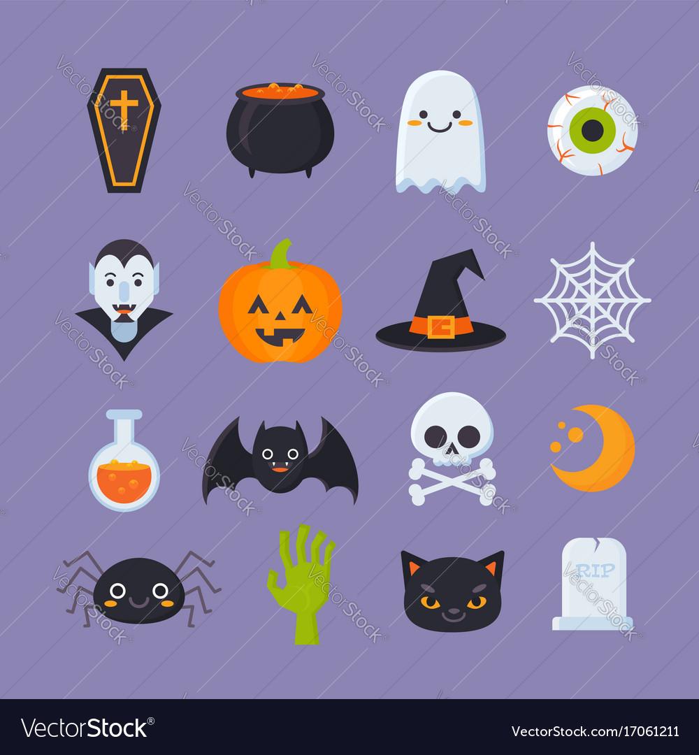 Halloween-icons vector image