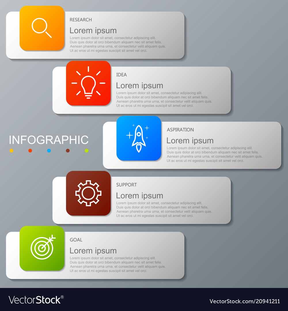 Infographic elements in modern fashion with 5 step