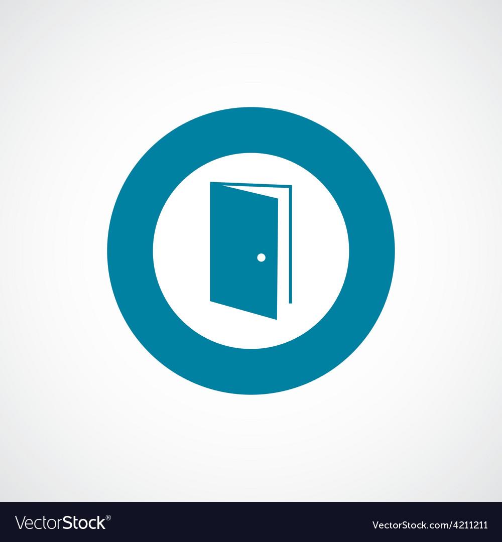 Open door icon bold blue circle border