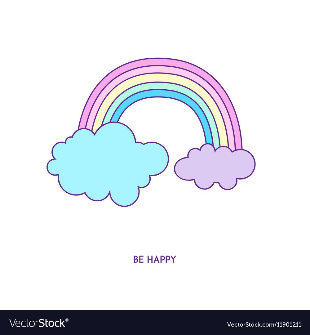 Rainbow icon character 01