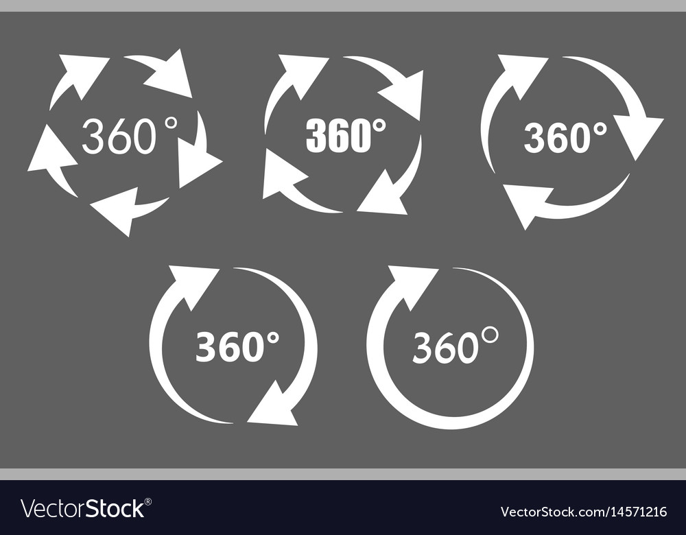360 degree rotation icons vector image