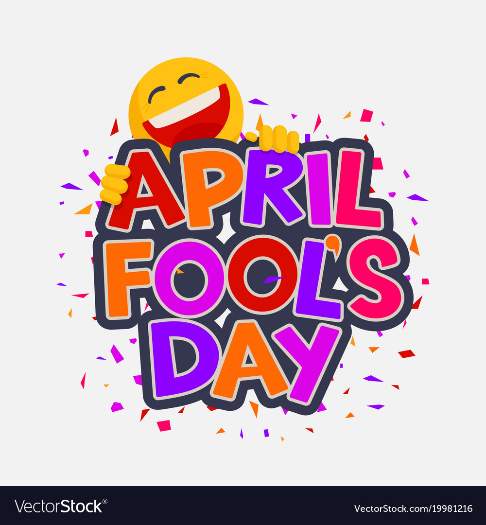 April fools day with laughing smiley