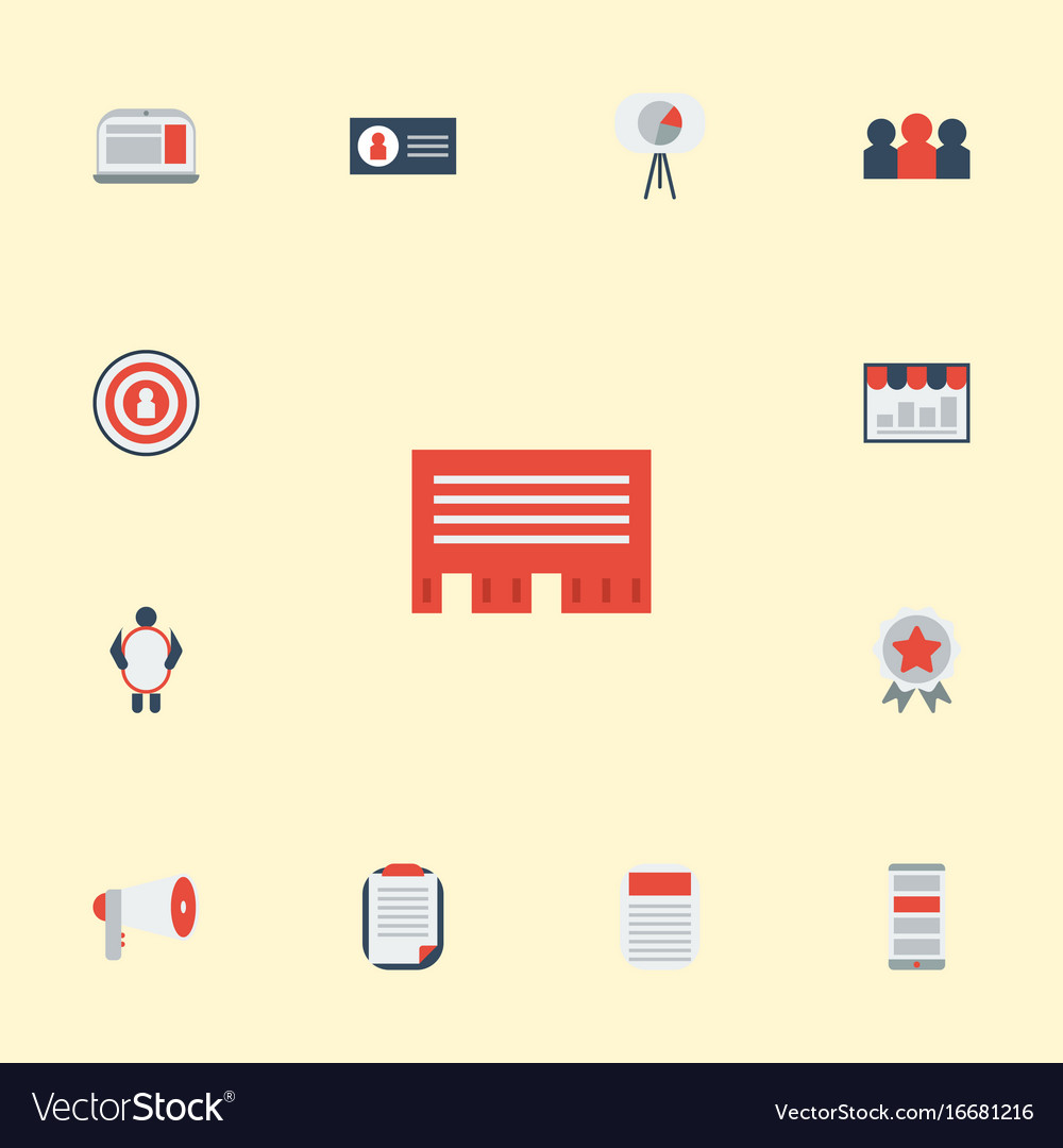 Flat icons audience man with banner letter and vector image