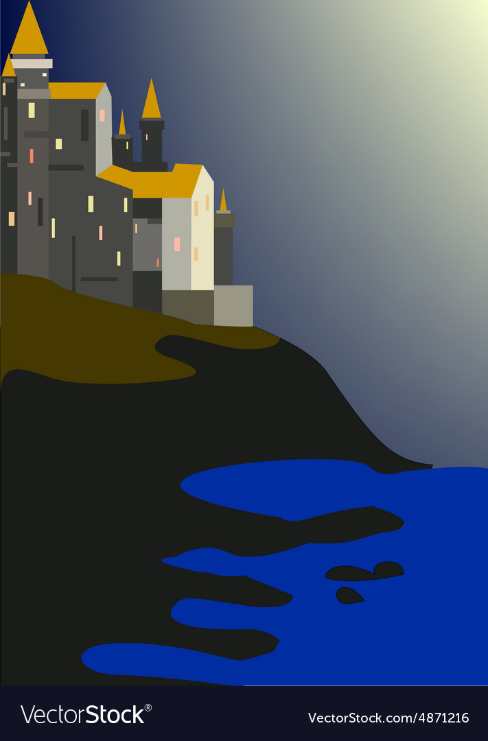 Fortress vector image