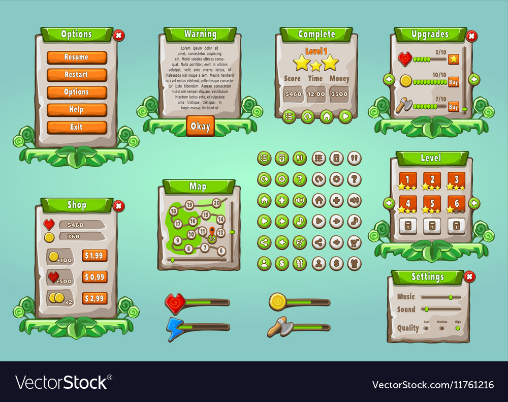Graphical User Interface Set in Natural Style