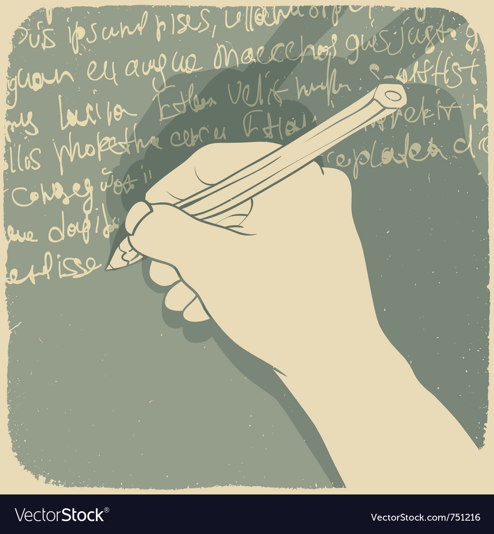 Hand writing background vector image