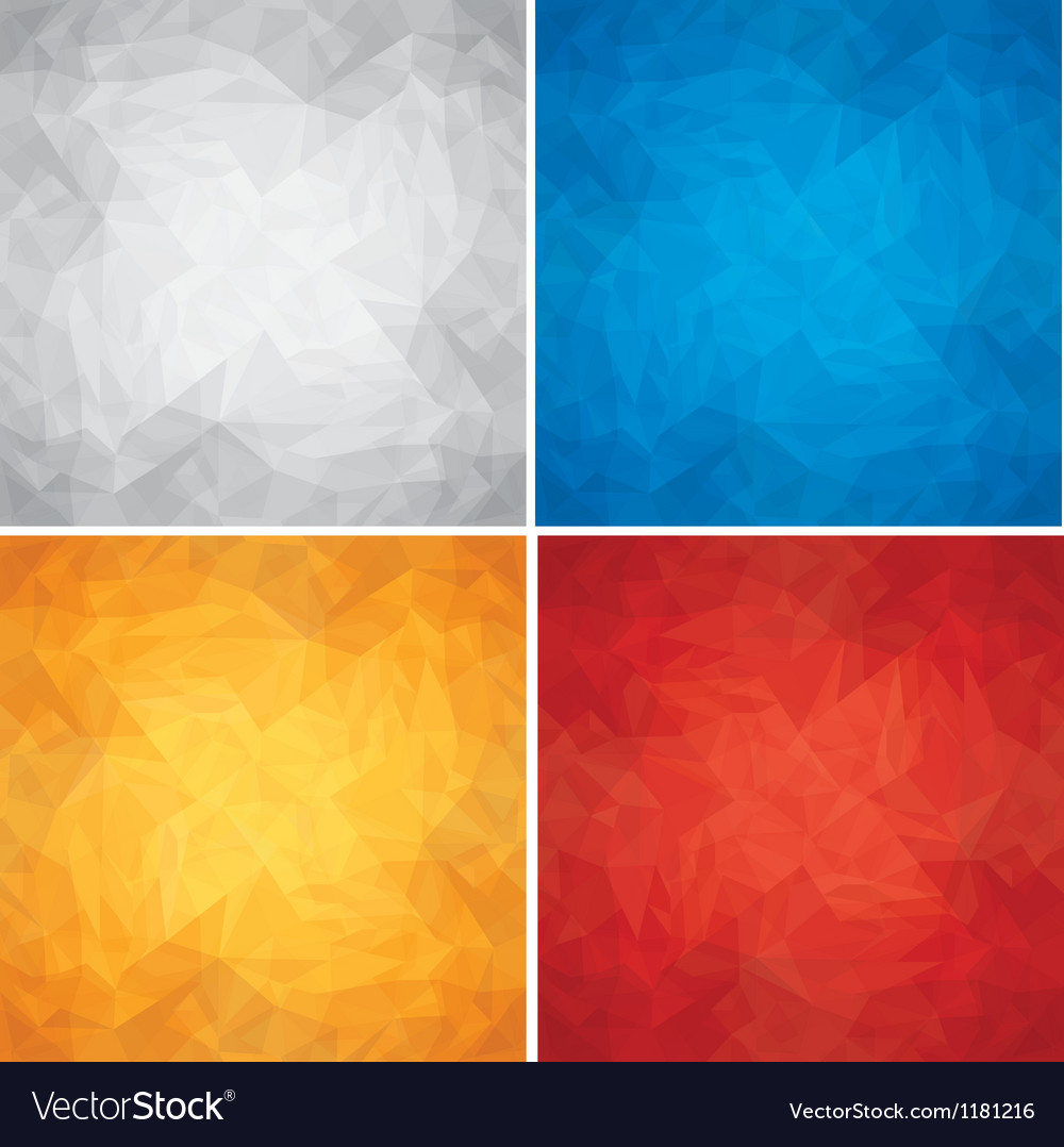 Set of Crumpled Colored Paper Textures