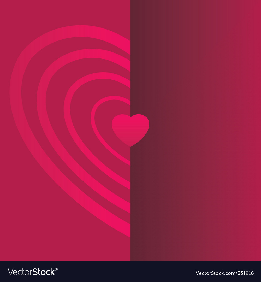 Valentine Day Card Template Royalty Free Vector Image