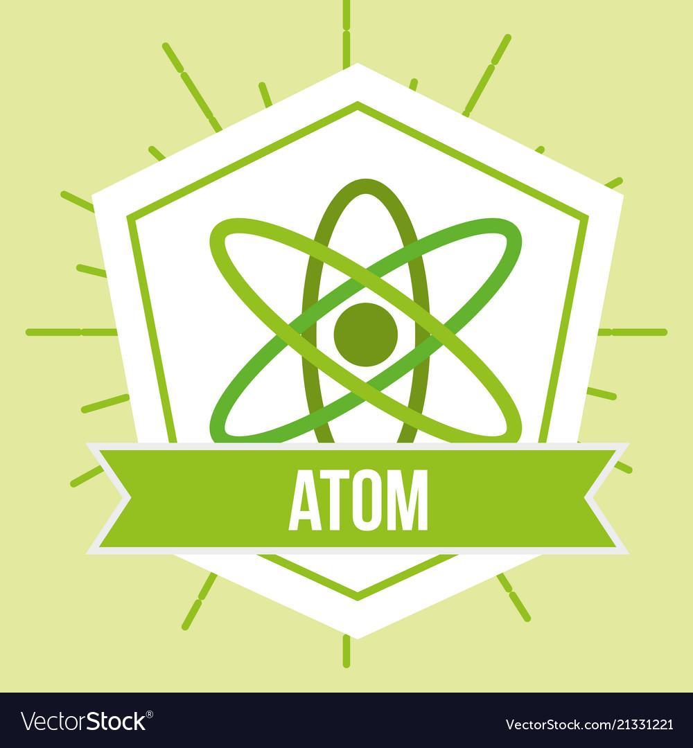Atom molecule science energy emblem