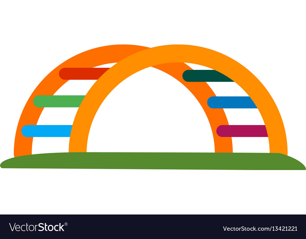 Half round monkey bar vector image