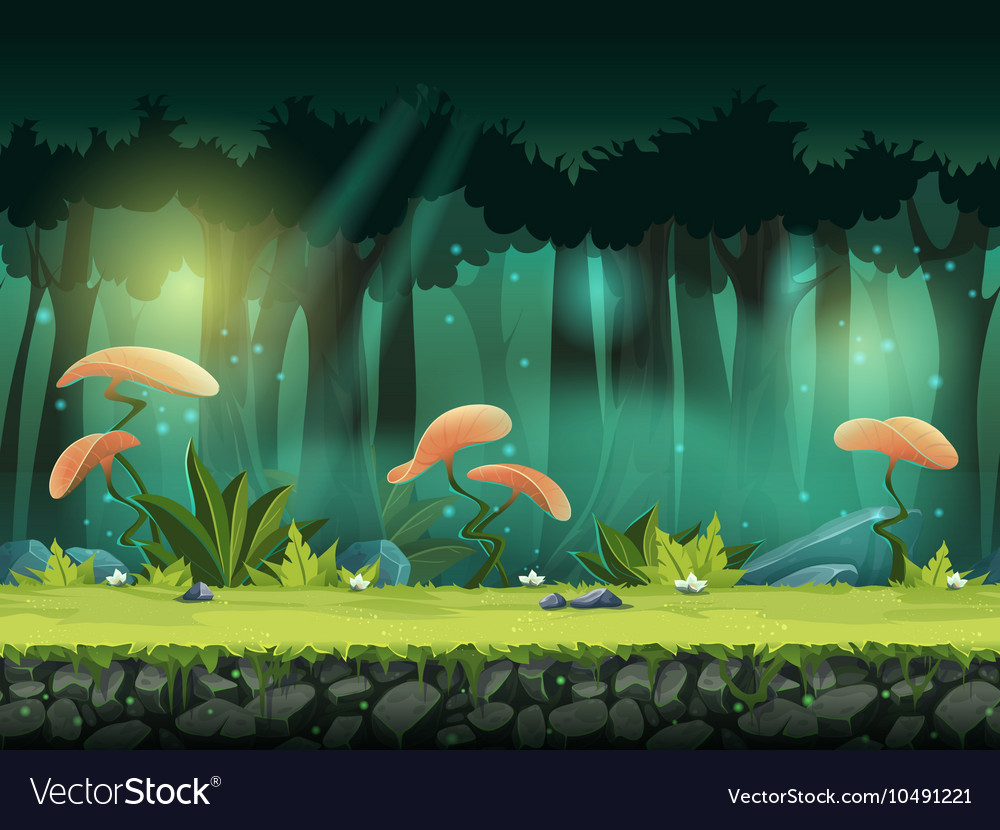 Horizontal seamless of forest