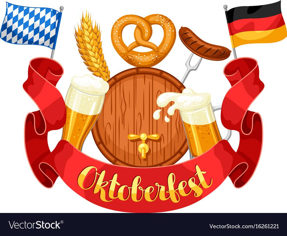 Oktoberfest beer festival or poster