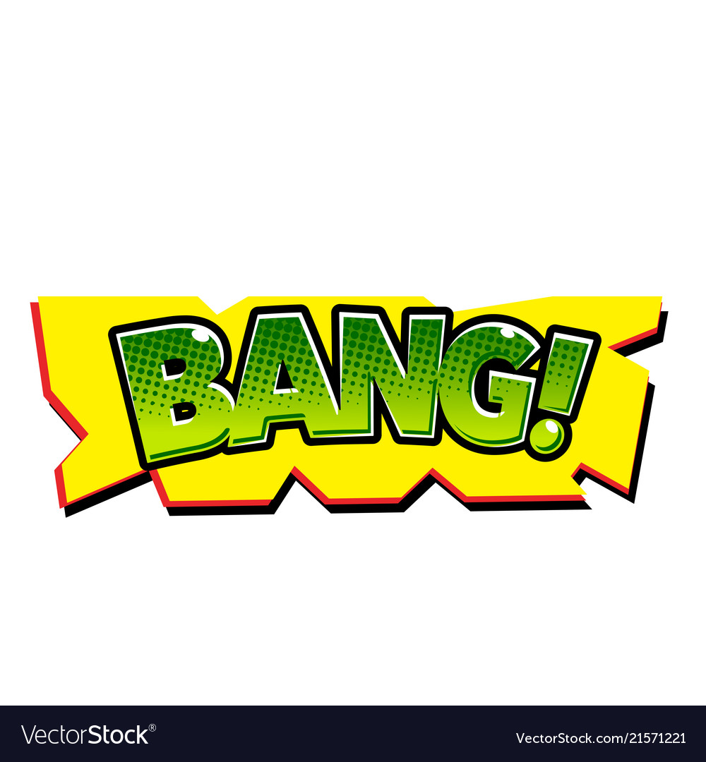 Pop art green bang yellow background image