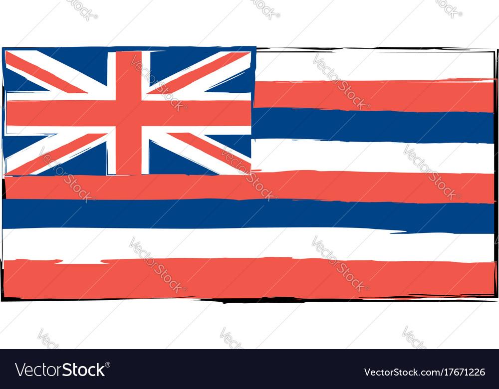 Abstract hawaiian flag or banner