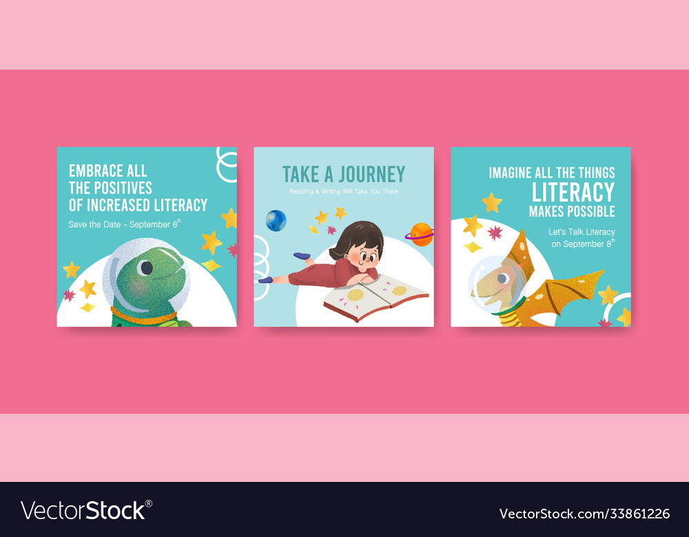 Advertise template with international literacy