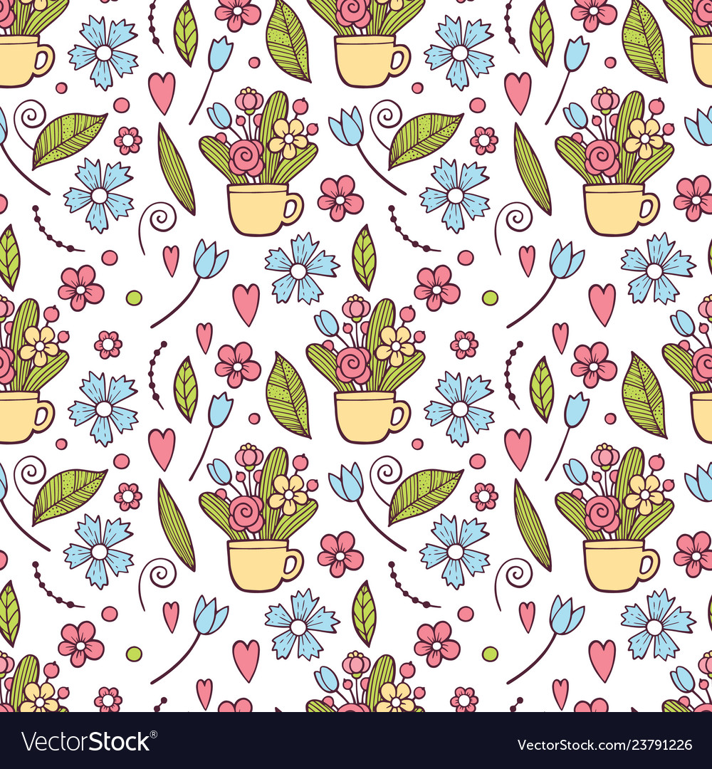 Cute floral pattern in the small flower ditsy