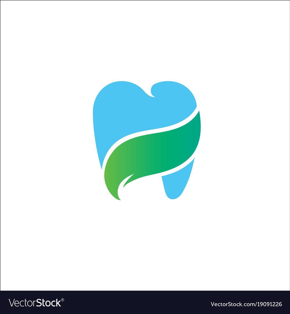 Health gradient logo template blue tooth concept i