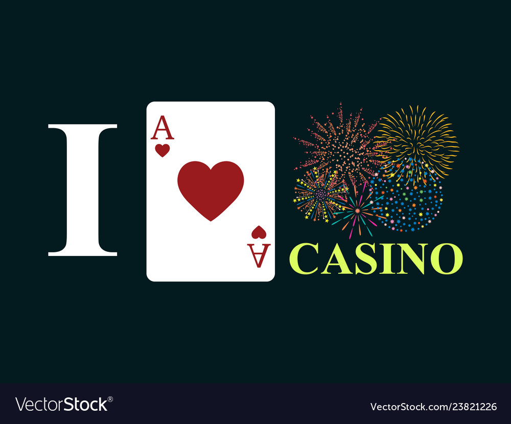 I love casino on black background