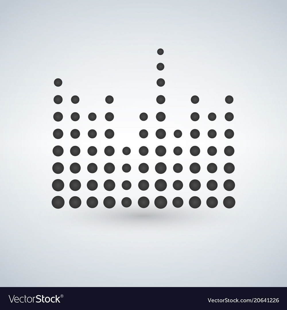 Minimal circle sound waves in black isolated icon