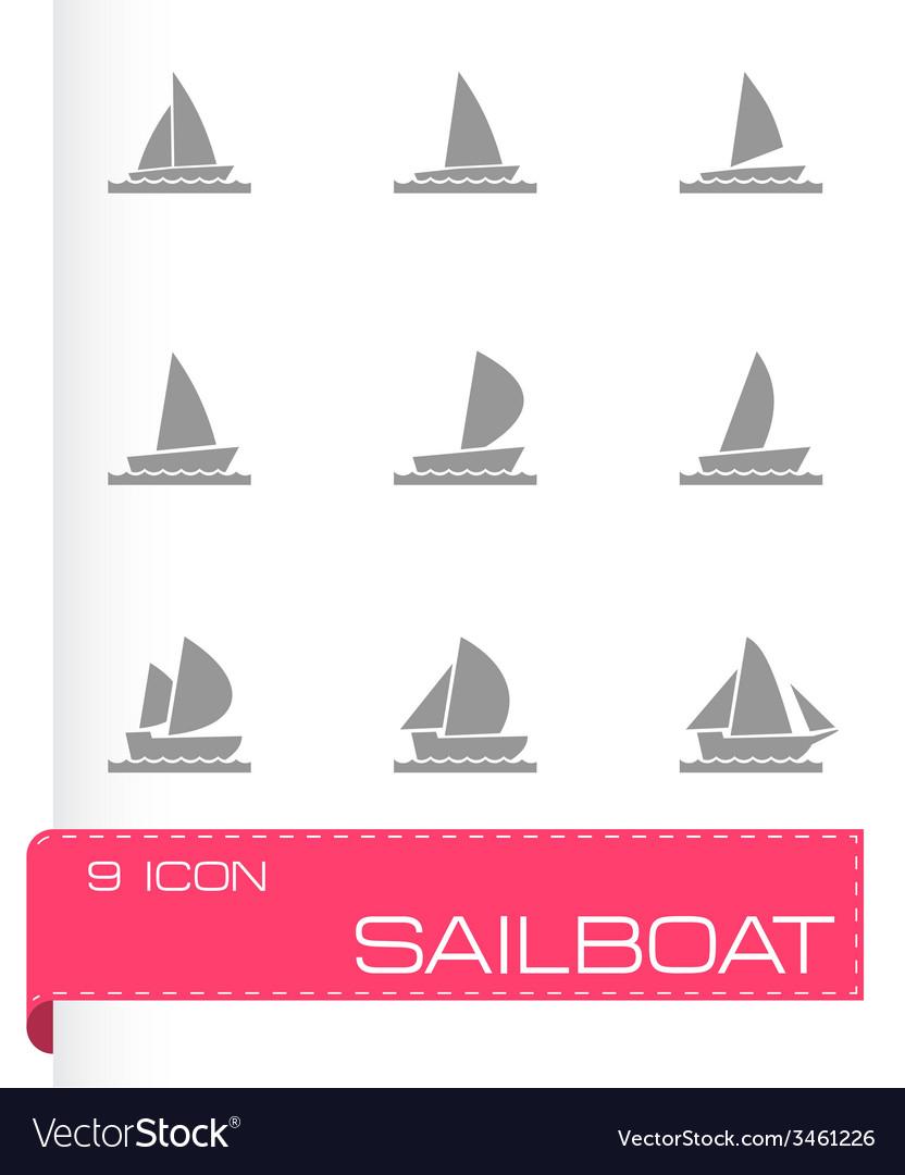 Sailboat icon set