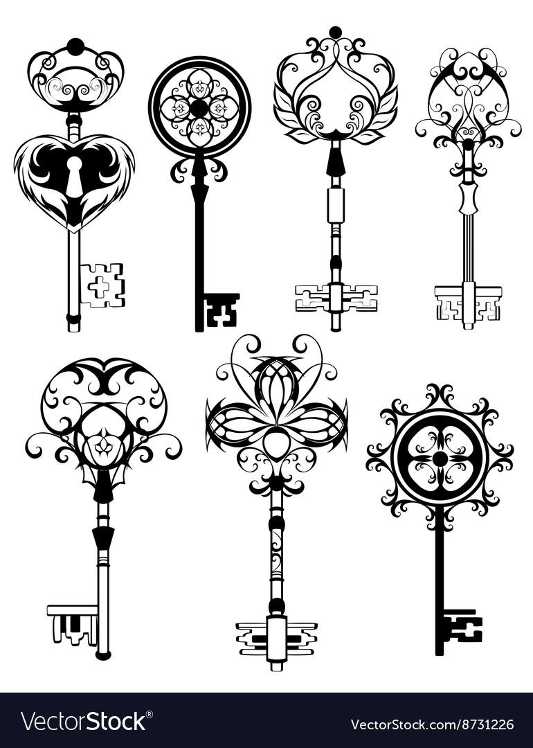 Set of Contoured Keys