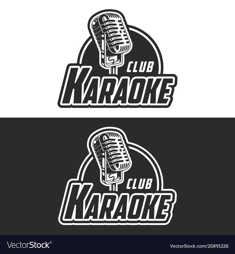 Shiny karaoke club label design